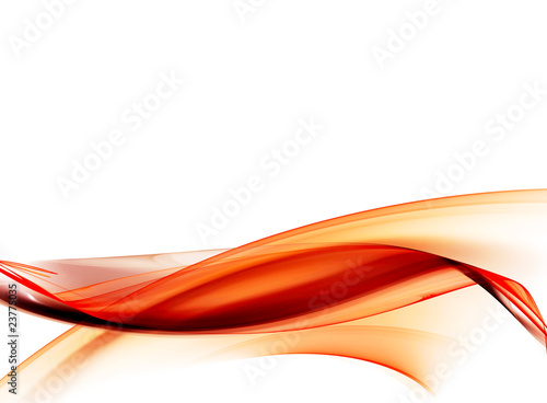 Fotobehang Fractal waves Smooth orange abstract form