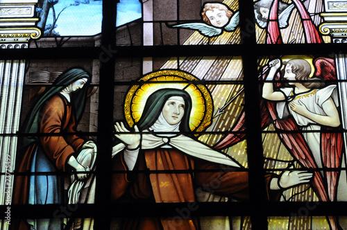 France, vitraux de l'église de Marly le Roi #23775499