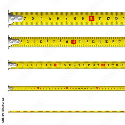 Fotografie, Obraz  Exact tape measure. Vector.