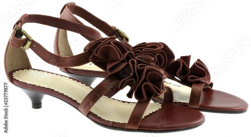 chaussures dames cuir, fond blanc