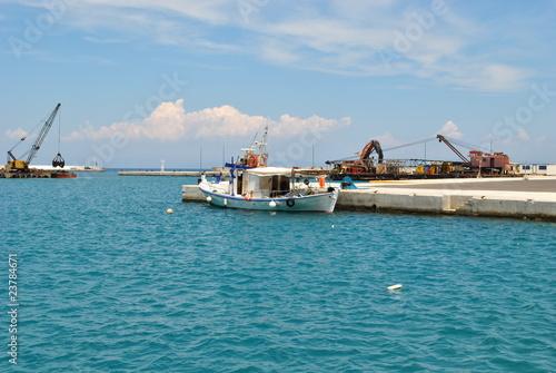 Garden Poster Shipwreck Ile de Samos, port de Karlovassy