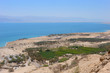 View of the Dead Sea from the slopes of the Judean mountains.