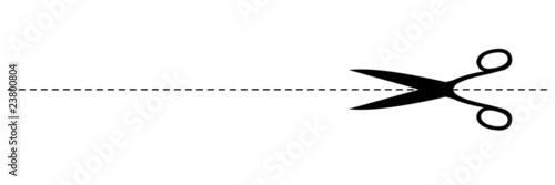 Photo  Ligne pointillée à découper