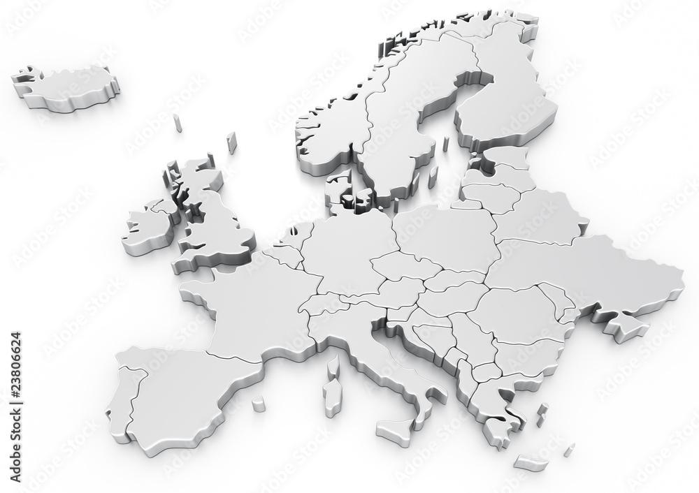 Fototapeta Euro map