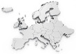 canvas print picture - Euro map