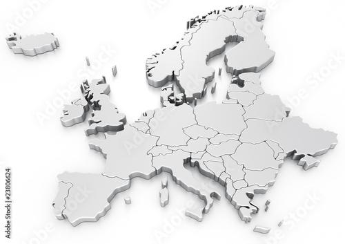 Fototapeta Euro map obraz