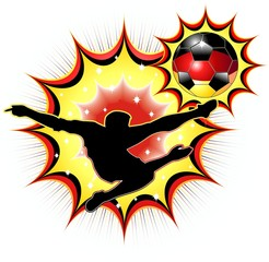 Germania Calciatore-Germany Soccer Champion-Vector