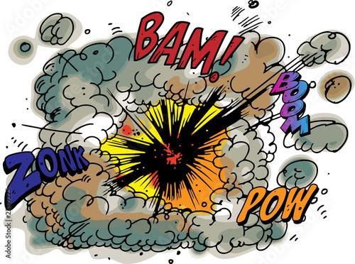 Printed kitchen splashbacks Explosion