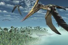 Prehistoric Morning - Flying Overhead-3D Render