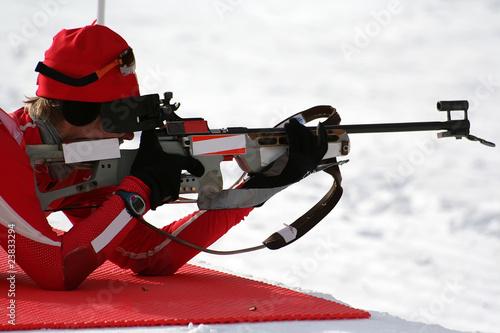 Montage in der Fensternische Wintersport Biathlon