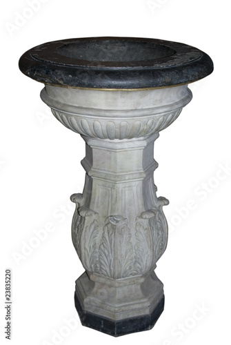 Ancient marble Baptismal font. Canvas-taulu