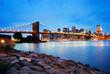 Brooklyn Bridge and Manhattan skyline in New York City