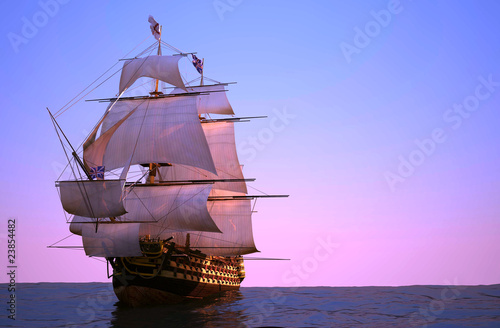 Tuinposter Schip The ancient ship