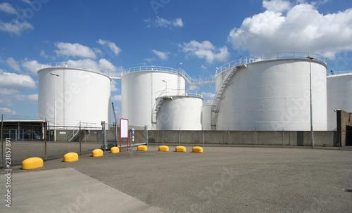 Photo  Large Oil Silos