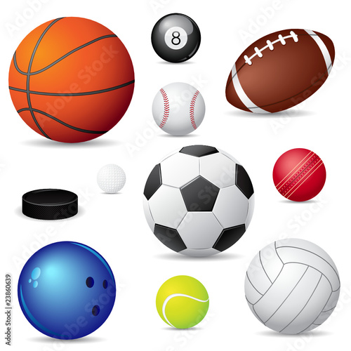 Foto op Aluminium Bol Vector illustration of sport balls