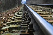 Shiny Rail And Sleepers