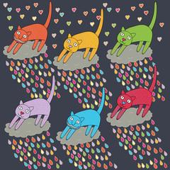 Plakat set funny cats
