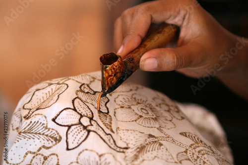 Batik Painting Canvas Print