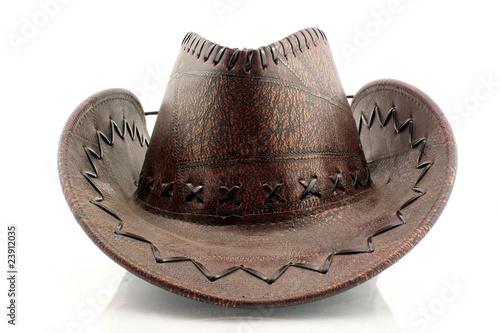 Poster de jardin Vache cowboy hat