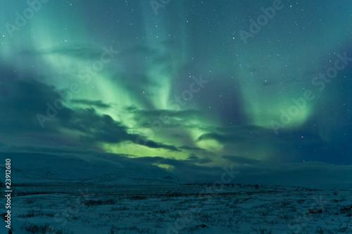 Poster Antarctique Northern lights after a storm
