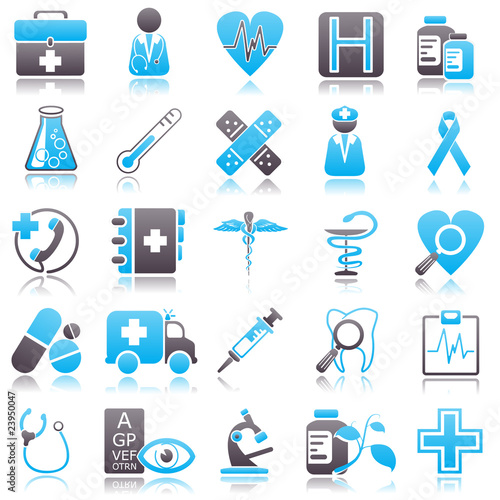 medicine Blue Icons