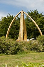 The Whale Bone Arch In Port Stanley In The Falklands.