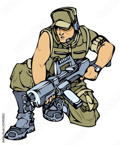 Deurstickers Militair Military