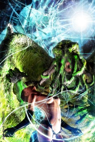 cthulhu monster Canvas Print