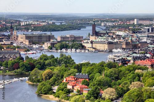 Stampe  Stockholm - aerial view