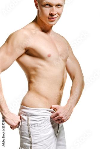Poster Akt Faceless male torso