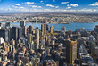 The New York City Manhattan with Queens panorama