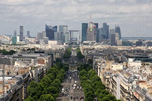 Papiers peints Paris Aerial view of Paris Champs Elysees