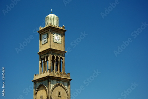 Fényképezés  Horloge à l'entrée de la médina de Casablanca