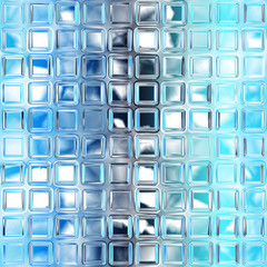 FototapetaSeamless blue glass tiles texture