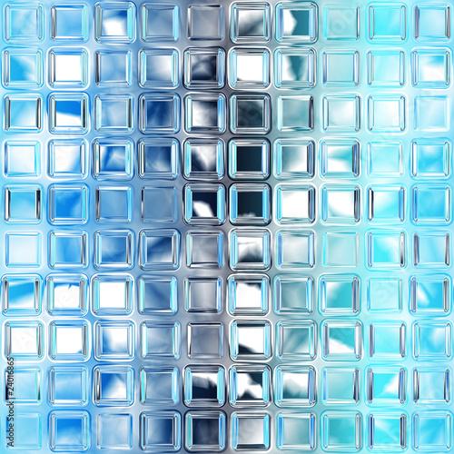 Seamless blue glass tiles texture