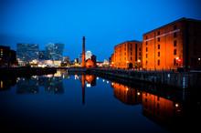 Albert Dock Liverpool At Night