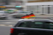 Deutschland Fan Meile Fahrt Fahnen