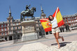 Leinwandbild Motiv Madrid tourist spain flag