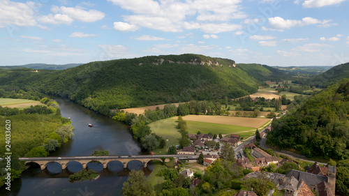 Spoed Fotobehang Rijstvelden Dordogne375