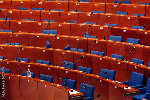 Fotografie, Obraz  Council of Europe, seats of the members 06
