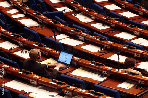 Fotomural Council of Europe, seats of the members 05