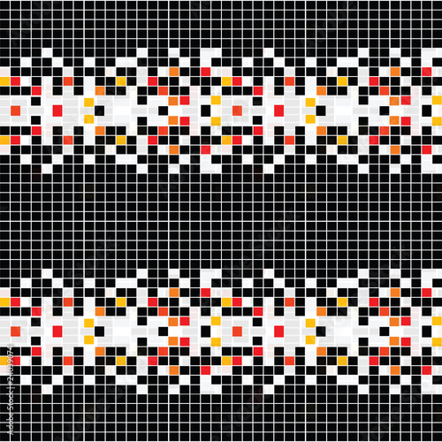 Foto op Aluminium Pixel Abstract pattern with mosaic