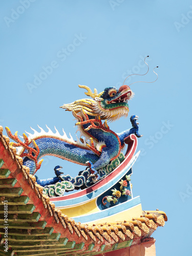 Chinese buddhist temple roof Wallpaper Mural