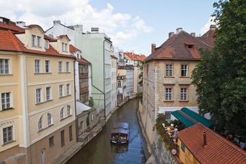 Fototapeta na wymiar Canale della Moldava a Praga