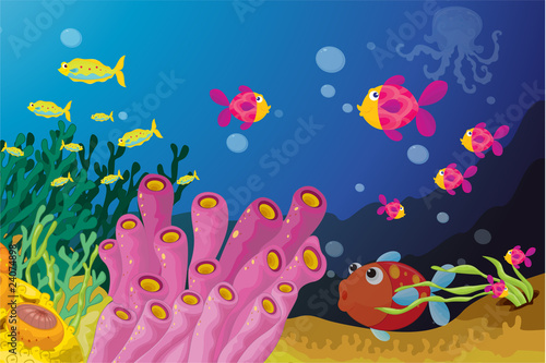 Wall Murals Submarine Deep water