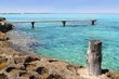 Formentera Illetes turquoise sea wooden pier