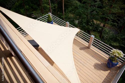 Fotografie, Obraz  terrasse mit sonnensegel