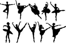 Ballet Dancers Silhouettes