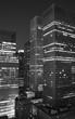 New York City at night black & white
