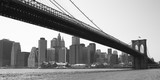 New York City Brooklyn bridge black & white